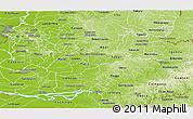 Physical Panoramic Map of Rio Alto Parana