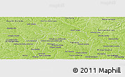 Physical Panoramic Map of Rio Yguazu