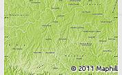 Physical Map of San Cristobal