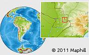 Physical Location Map of Yguazu (Lago)