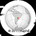 Outline Map of Yguazu (Lago)