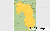 Savanna Style Simple Map of Amambay