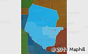 Political Shades Map of Boqueron, darken