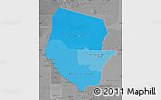 Political Shades Map of Boqueron, desaturated