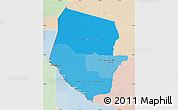 Political Shades Map of Boqueron, lighten