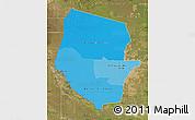 Political Shades Map of Boqueron, satellite outside