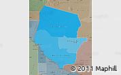 Political Shades Map of Boqueron, semi-desaturated