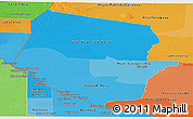 Political Shades Panoramic Map of Boqueron