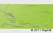 Physical Panoramic Map of Pedro P. Pena