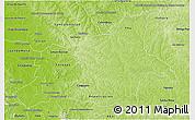 Physical 3D Map of Caaguazu