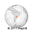 Outline Map of Coronel Oviedo