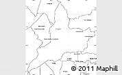 Blank Simple Map of Coronel Oviedo
