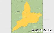 Savanna Style Simple Map of Coronel Oviedo