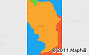 Political Simple Map of Nueva Londres