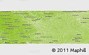 Physical Panoramic Map of Caaguazu