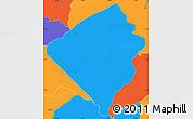 Political Simple Map of San Jose de los Arroyos