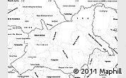 Blank Simple Map of Caaguazu