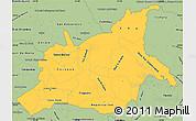 Savanna Style Simple Map of Caaguazu