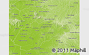 Physical 3D Map of Caazapa