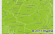 Physical Map of Fulgencio Yegros
