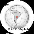 Outline Map of Fulgencio Yegros