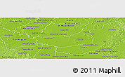 Physical Panoramic Map of Fulgencio Yegros