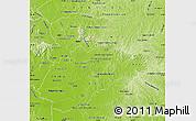 Physical Map of Caazapa