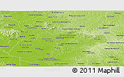 Physical Panoramic Map of Caazapa