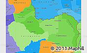 Political Shades Simple Map of Canindeyu