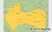 Savanna Style Simple Map of Canindeyu