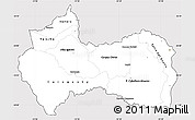 Silver Style Simple Map of Canindeyu, cropped outside