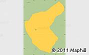 Savanna Style Simple Map of Aregua