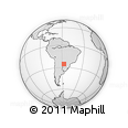 Outline Map of Itaugua