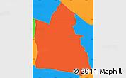 Political Simple Map of Itaugua