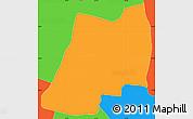 Political Simple Map of J. A. Saldivar