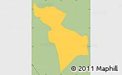 Savanna Style Simple Map of Nemby