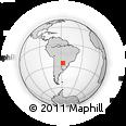 Outline Map of Nueva Italia