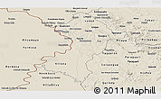 Shaded Relief Panoramic Map of Central