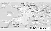 Silver Style Panoramic Map of Central