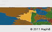 Political Panoramic Map of Villeta, darken