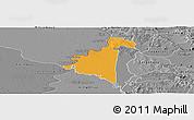 Political Panoramic Map of Villeta, desaturated