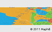Political Panoramic Map of Villeta