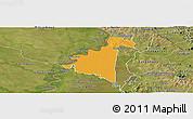 Political Panoramic Map of Villeta, satellite outside