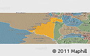 Political Panoramic Map of Villeta, semi-desaturated
