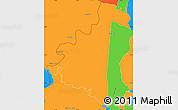 Political Simple Map of Villeta