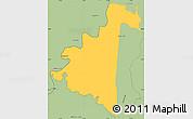 Savanna Style Simple Map of Villeta