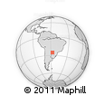 Outline Map of Ypacarai
