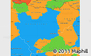 Political Simple Map of Concepcion