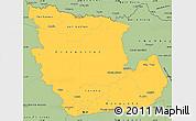 Savanna Style Simple Map of Concepcion