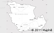 Silver Style Simple Map of Concepcion, cropped outside